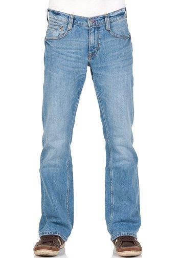 OREGON - Bootcut jeans - light blue denim