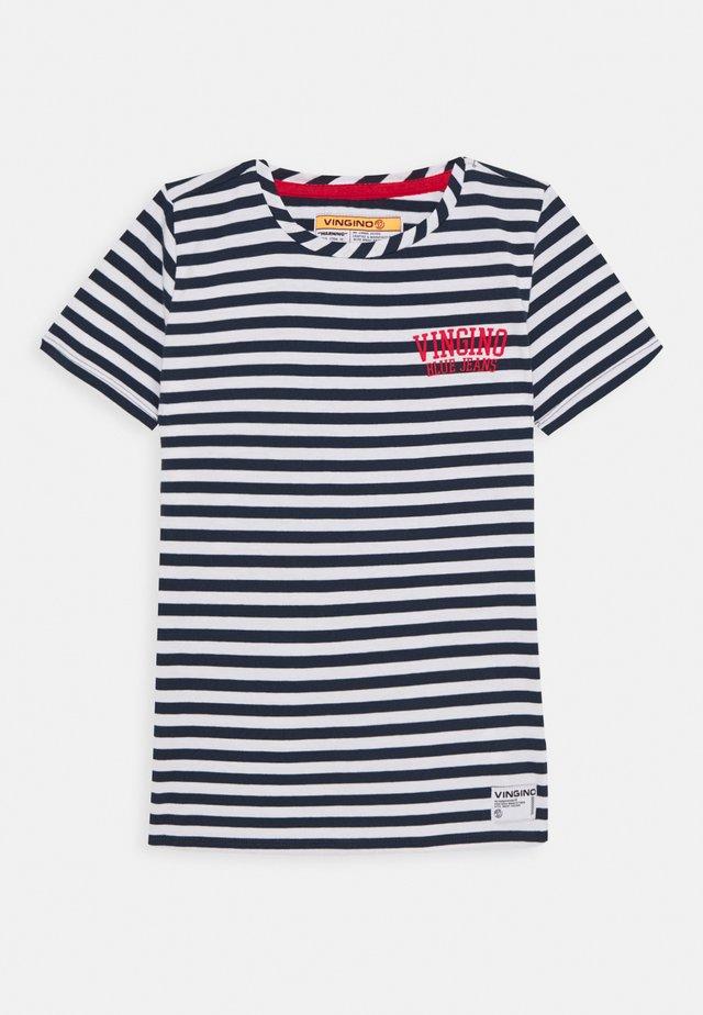 HALUK - Print T-shirt - dark blue