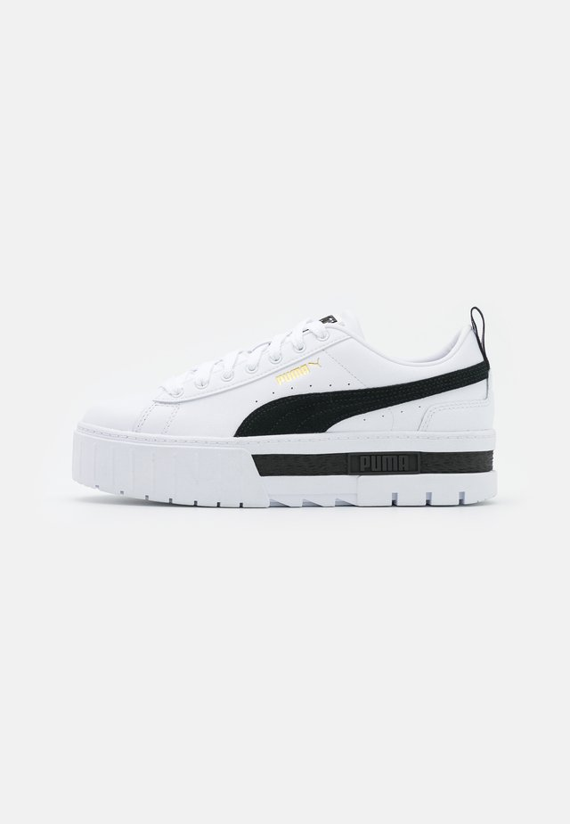 MAYZE - Sneakersy niskie - white/black