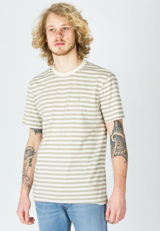 Print T-shirt - dove/rock