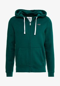 Hollister Co. - CORE ICON - Zip-up hoodie - emerald - 4