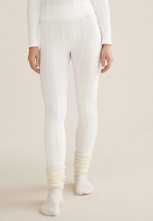 Nattøj bukser - white