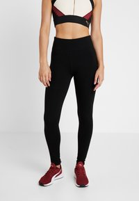 DKNY - HIGH WAIST LOGO LEGGING - Collants - black - 0