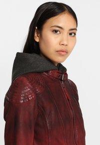 Gipsy - CASCHA LAMOV - Leather jacket - ox red - 5