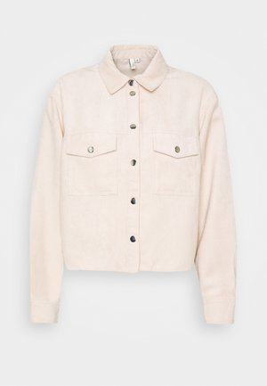 CROPPED - Button-down blouse - beige
