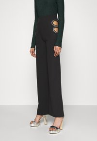 Nly by Nelly - CUT OUT PANTS - Trousers - black - 0