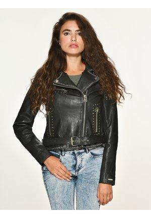 ROCKIG SPICER - Leather jacket - black