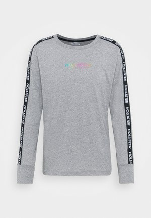 REFLECTIVE TAPING LOGO - Long sleeved top - heather grey