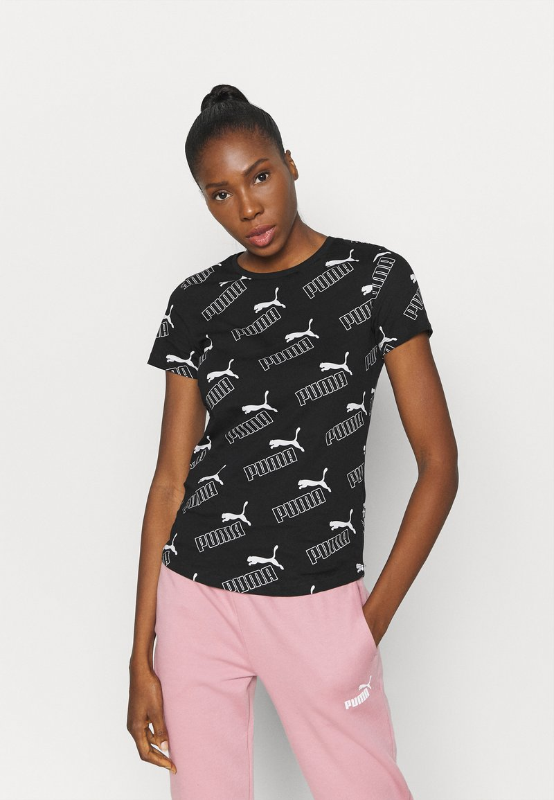 Puma - AMPLIFIED TEE - Camiseta estampada - black