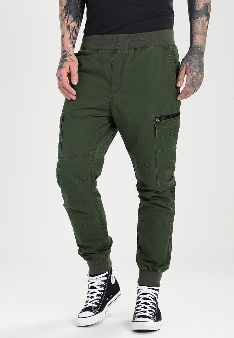 Pier One - Cargobroek - dark green