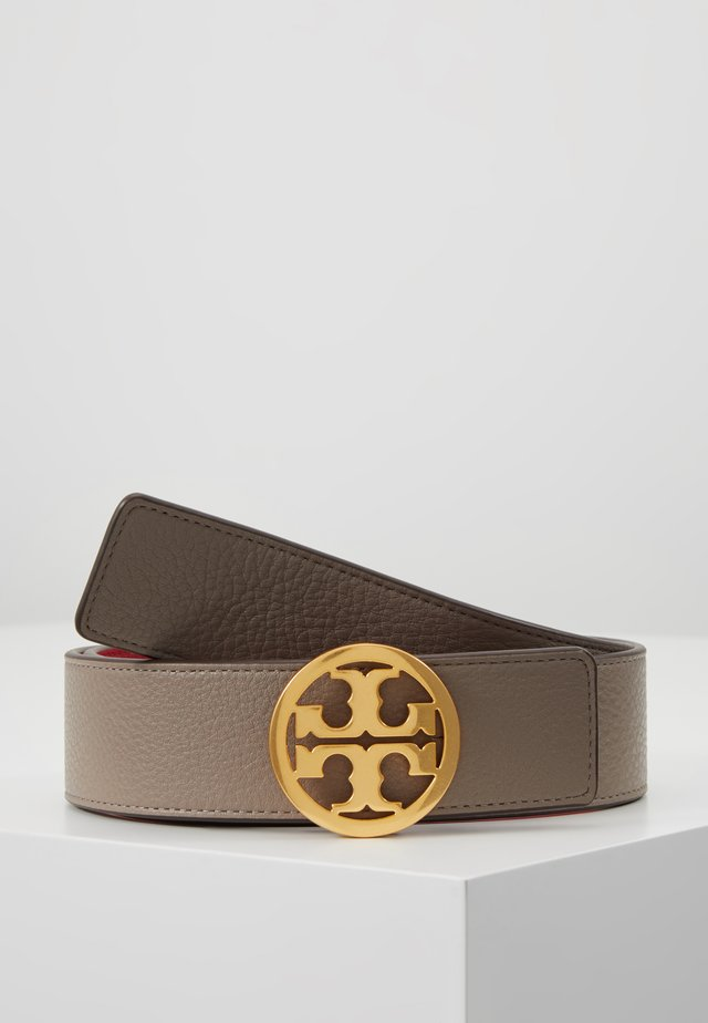 REVERSIBLE LOGO BELT - Cintura - gray heron/red apple/gold-coloured