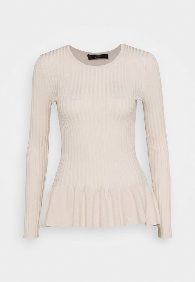 PEPLUM SPECIAL - Pullover - almond