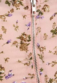 Missguided - COORD CROP TIE FRONT FLORAL - Bluser - pink - 2