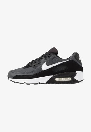 AIR MAX 90 - Matalavartiset tennarit - black/white/metallic silver