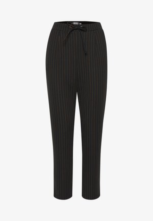 FRNELANO  - Trousers - black with yellow