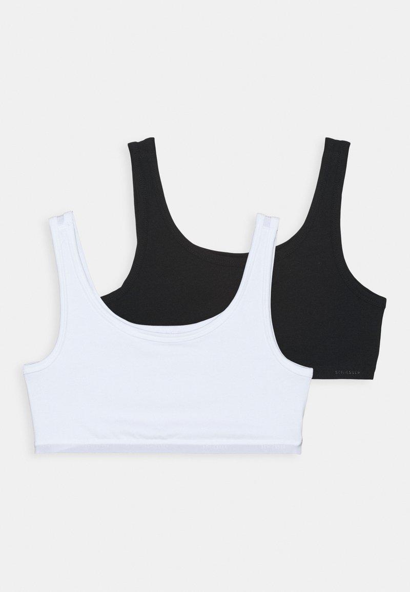 Schiesser - 95/5 2 PACK - Bustier - black/white