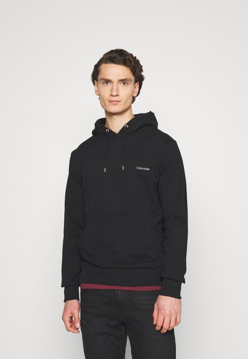 Calvin Klein - LOGO EMBROIDERY HOODIE - Hoodie - black