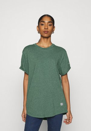LASH LOOSE - Basic T-shirt - cosmo green heather
