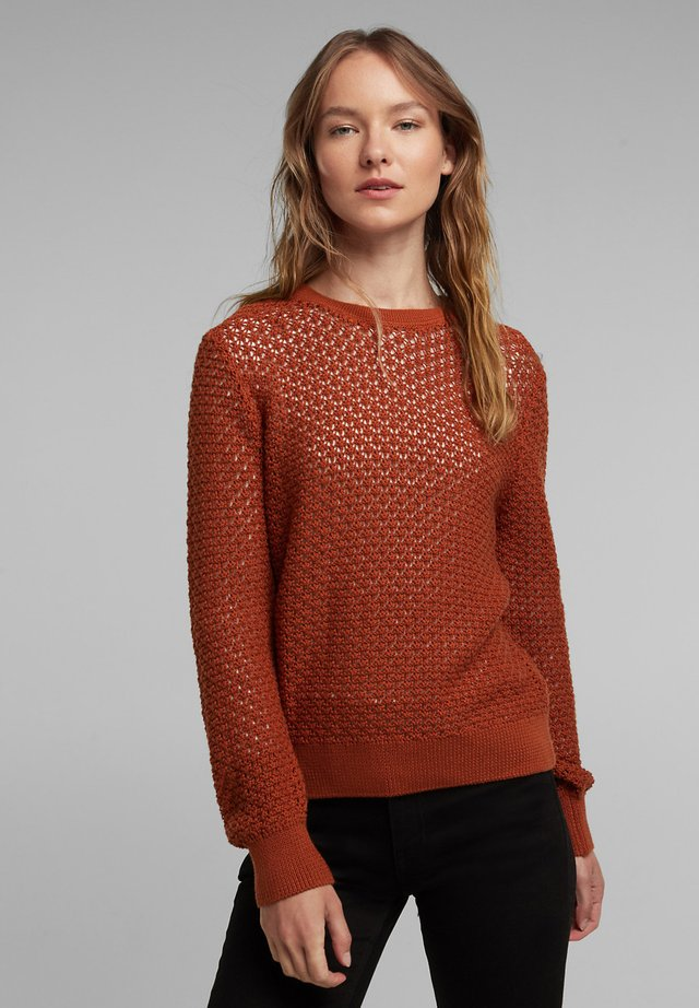 Strikpullover /Striktrøjer - rust brown