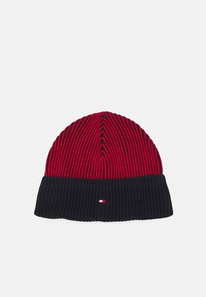 DOUBLE STITCH BEANIE UNISEX - Pipo - navy/red
