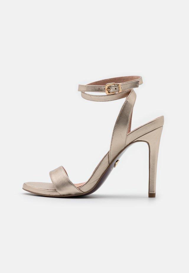 Sandalen met hoge hak - platinum