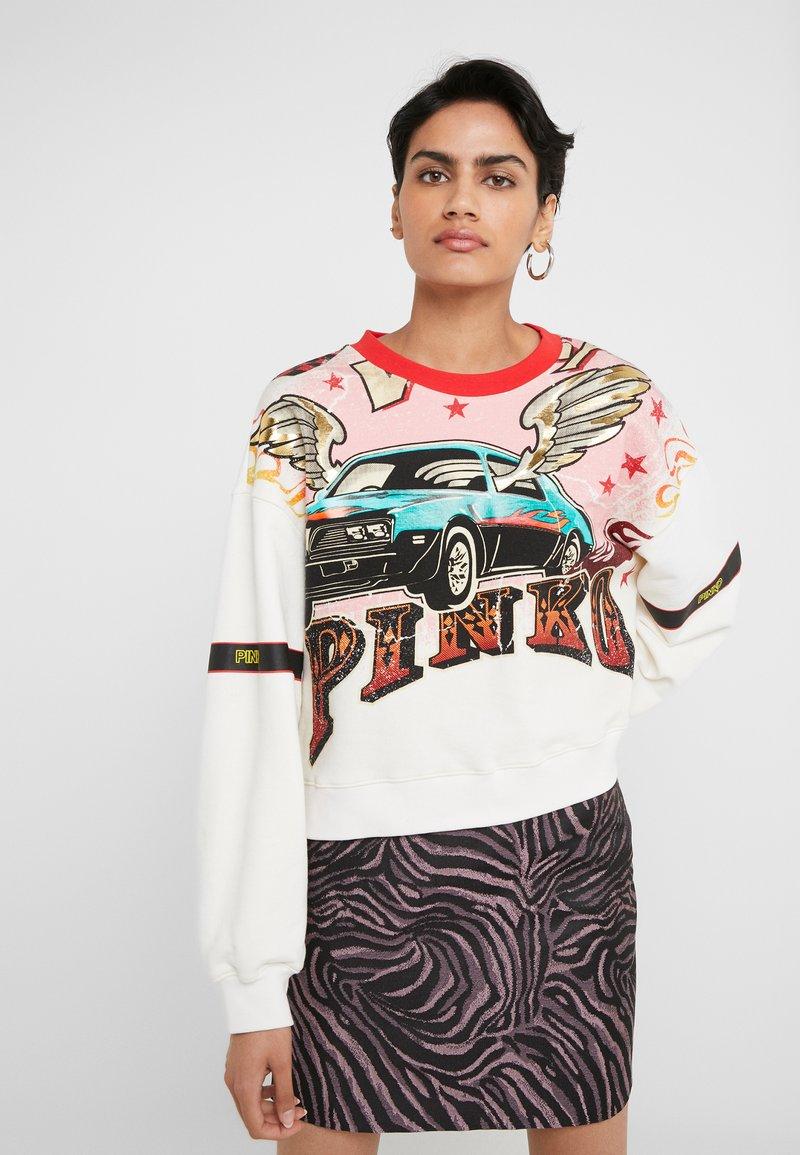 Pinko - SENAPE MAGLIA FELPA DI COTONE - Sweater - bianco biancaneve