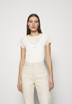 LOU - T-shirt con stampa - off white