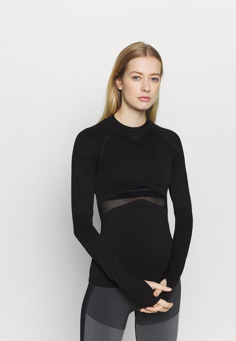 NU-IN - COMPRESSION  - Bluzka z długim rękawem - black