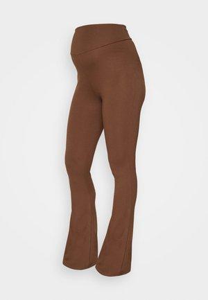 MATERNITY PULL ON FLARE PANT - Leggings - brown