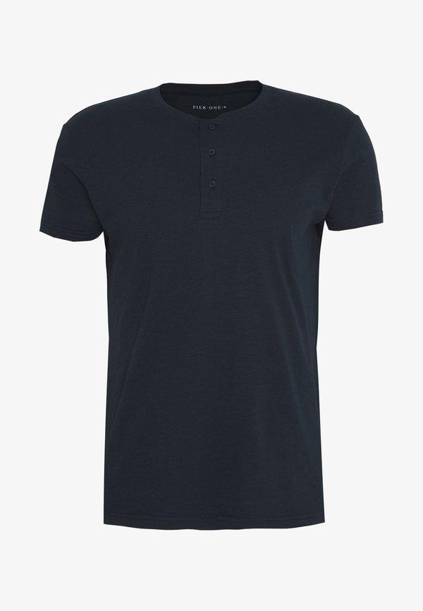 Pier One T-shirt basic - dark blue/granatowy Odzież Męska LCCL