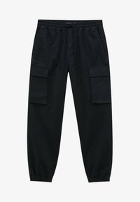 PULL&BEAR - Cargo trousers - black - 6