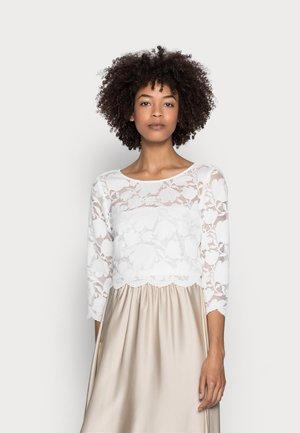 LACE SHIRT - T-shirt z nadrukiem - off white