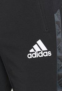 adidas Performance - Träningsbyxor - black/white - 4