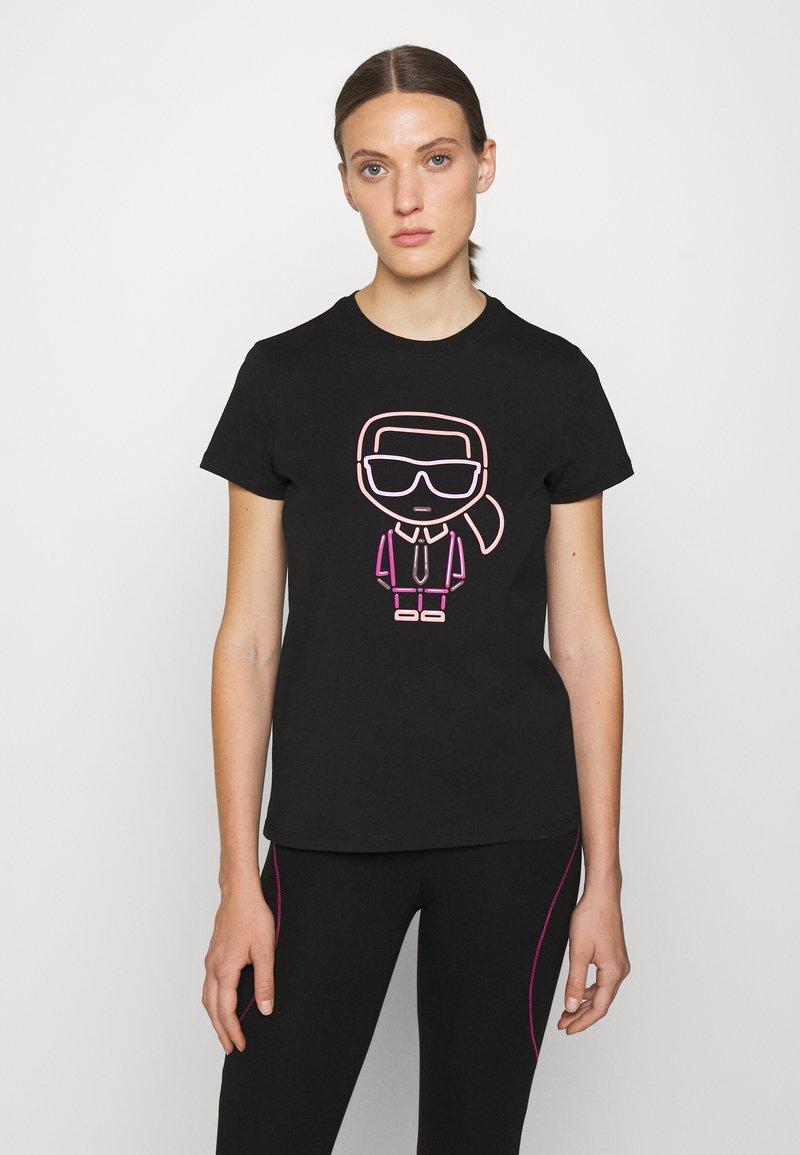 KARL LAGERFELD - IKONIK OUTLINE - T-Shirt print - black