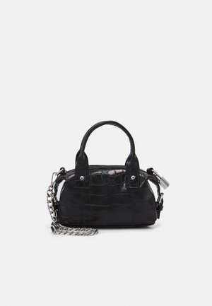 MINI BOBBY CROCO - Handbag - black