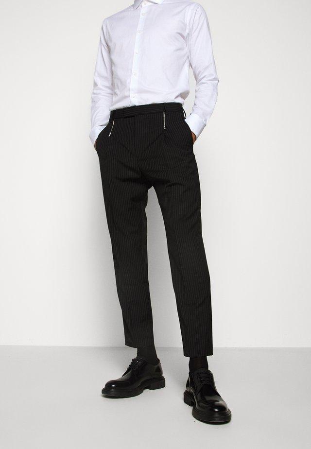 FRITZ - Spodnie garniturowe - black