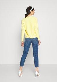 ONLY - ONLEMILY RAW ANKLE - Jeans Slim Fit - dark blue denim - 2
