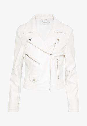 ONLENYA  - Faux leather jacket - cloud dancer
