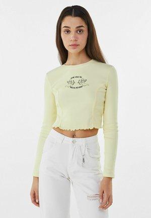 MIT STICKEREI - Bluzka z długim rękawem - yellow
