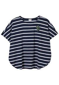 s.Oliver - Print T-shirt - dark blue stripes - 0