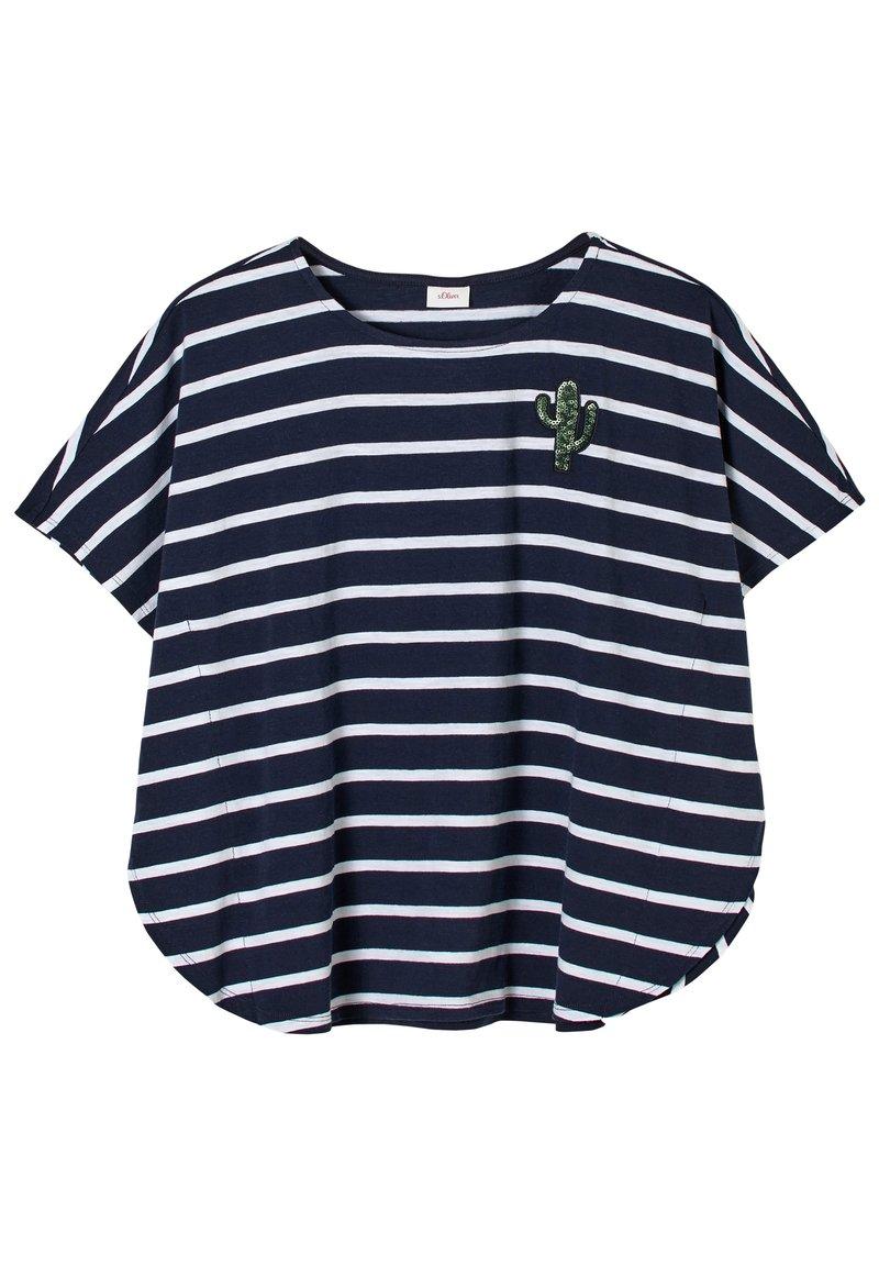 s.Oliver - Print T-shirt - dark blue stripes