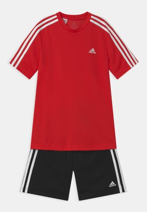 SET - Short de sport - vivid red/black/white
