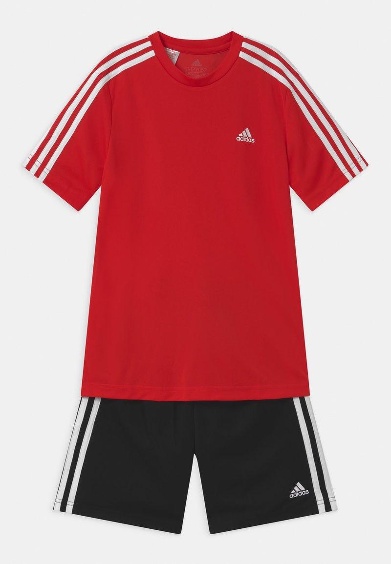 adidas Performance - SET - Sportovní kraťasy - vivid red/black/white