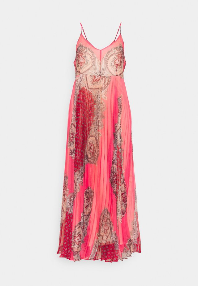 ABITO LUNGO SPALLINA PAISLEY - Sukienka letnia - rosa neon
