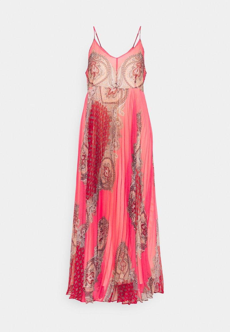 TWINSET - ABITO LUNGO SPALLINA PAISLEY - Day dress - rosa neon