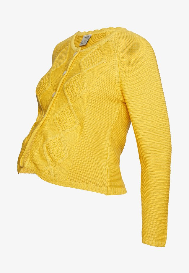 CLOVER CABLE CARDIGAN - Neuletakki - bumble bee