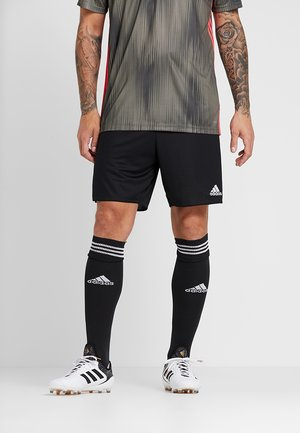 PARMA PRIMEGREEN FOOTBALL 1/4 SHORTS - Träningsshorts - black/white