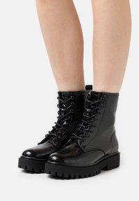 Even&Odd - Platform ankle boots - black - 0