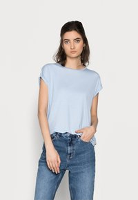 Vero Moda Tall - VMAVA PLAIN 2 PACK - Basic T-shirt - blue fog/old rose - 3