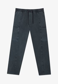 Stradivarius - IM ACID-WASH - Tracksuit bottoms - dark grey - 4